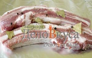 Свиные ребрышки в фольге: фото к шагу 3.