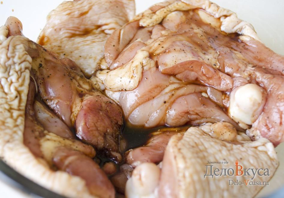 замариновать свинину в гранатовом соусе