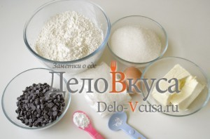 Печенье с кокосовой стружкой и шоколадом: Ингредиенты