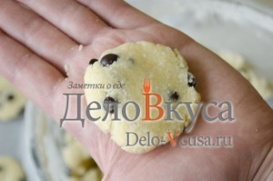 Печенье с кокосовой стружкой и шоколадом: Формируем печенье