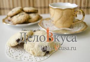 Печенье с кокосовой стружкой и шоколадом