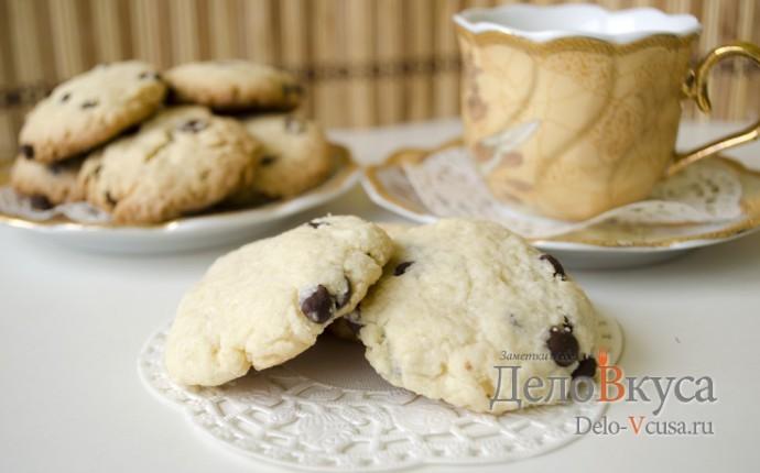 Кокосовое печенье с шоколадной крошкой