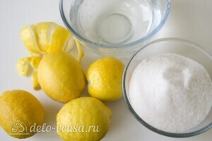 Цукаты из лимонных корок: Ингредиенты