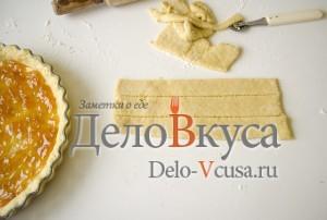 Открытый пирог с джемом: Использовать остальное тесто