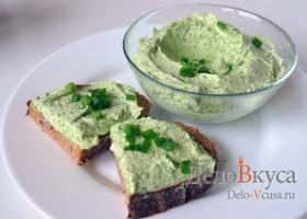 Закуска из плавленого сыра и зелени