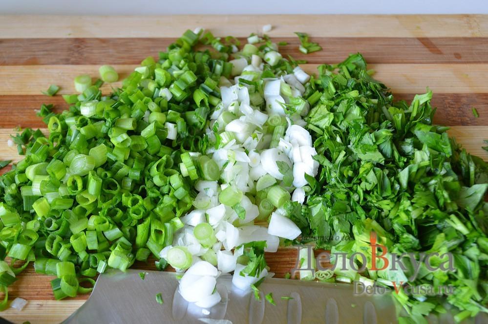 Закуска из плавленого сыра и зелени: фото к шагу 1.