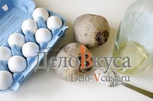 Красим яйца в соке свеклы: Ингредиенты