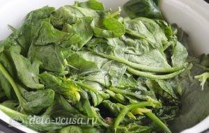 Паста со шпинатом и рикоттой (Fusilli agli spinaci e ricotta): фото к шагу 2.