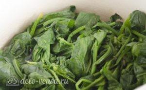 Паста со шпинатом и рикоттой (Fusilli agli spinaci e ricotta): фото к шагу 4.
