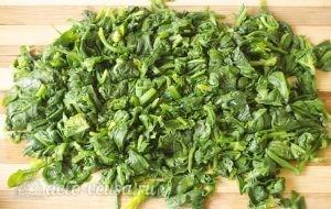 Паста со шпинатом и рикоттой (Fusilli agli spinaci e ricotta): фото к шагу 6.