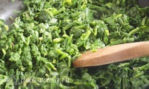 Паста со шпинатом и рикоттой (Fusilli agli spinaci e ricotta): фото к шагу 8.