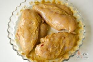 Курица тандури: Замариновать филе