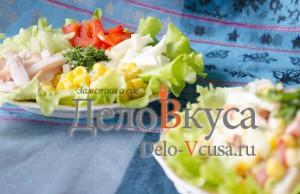 Салат из болгарского перца и ветчины