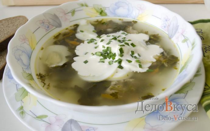 Рецепт зеленый борщ со щавелем и крапивой
