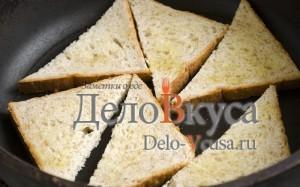 Бутерброды со шпротами: Обжарить хлеб