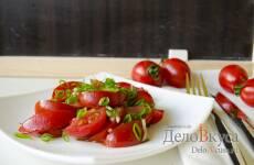Салат из томатов с бальзамическим уксусом