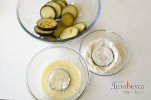 Жареные баклажаны с чесночным соусом: фото к шагу 5.
