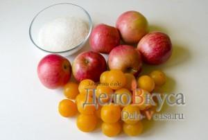 Копмот из яблок и алычи: Ингредиенты