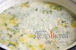 Куриный суп с плавленым сыром: Готовим суп