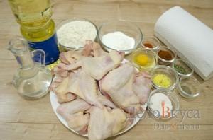Острые куриные крылышки к пиву во фритюре: Ингредиенты