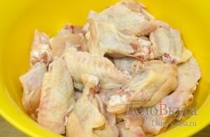 Куриные крылышки в панировке из крахмала - рецепт пошаговый с фото