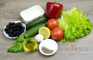 Греческий салат классический: Ингредиенты