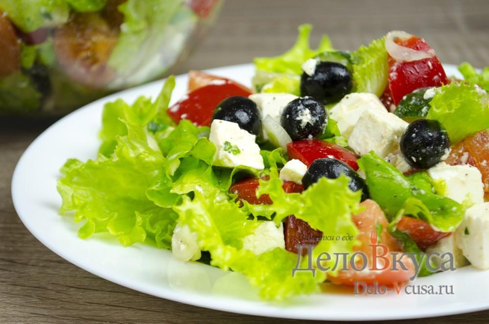 Греческий салат из капусты