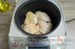 Курица с картошкой в мультиварке: фото к шагу 3
