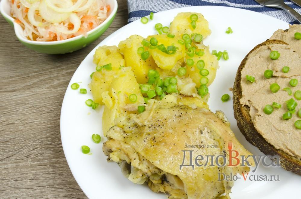 курица с картошкой в мультиварке видео рецепт