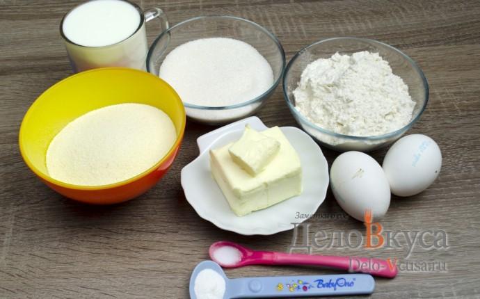Пирог манник на кефире: Ингредиенты