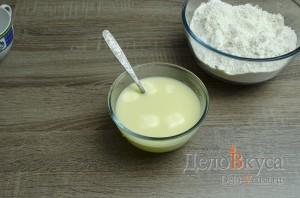 Манты: Масло растопить в горячей воде