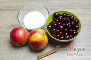 Компот из вишни и яблок: Ингредиенты