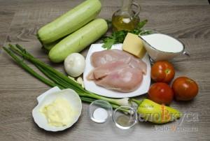 Кабачки фаршированные курицей: Ингредиенты