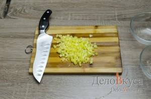 Кабачки фаршированные курицей: Болгарский перец порезать кубиками