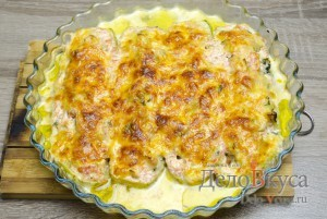 Кабачки фаршированные курицей: Запекаем кабачки в духовке до готовности