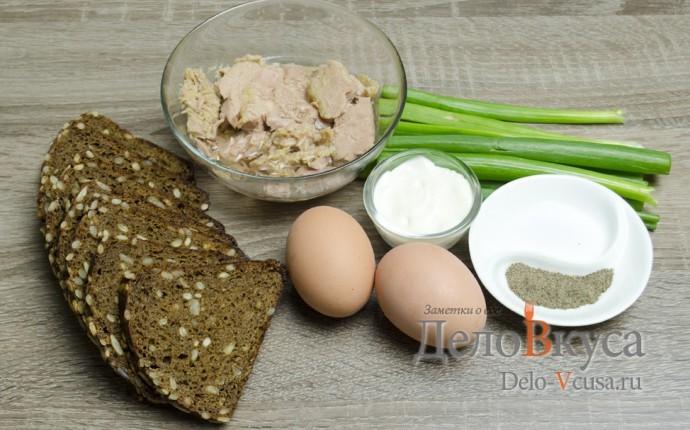 Бутерброды с тунцом: Ингредиенты