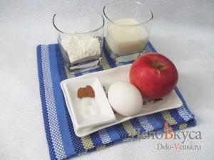 Яблоки в кляре с корицей: Ингредиенты