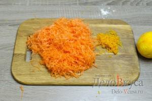 Морковное печенье с апельсиновой цедрой: Морковь натереть на терке, снять с апельсина цедру