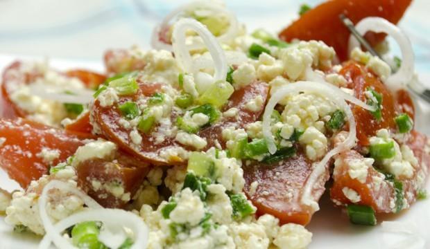Салат с творогом и помидорами рецепт с пошаговыми фото
