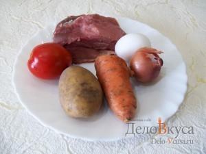 Суп с фрикадельками и яйцом на мясном бульоне: Ингредиенты
