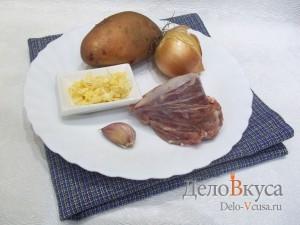Фаршированная картошка в духовке с мясным фаршем: Ингредиенты