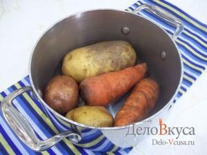 Салат Елочка на Новый год: Отварить овощи