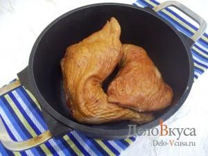 Салат Елочка на Новый год: Подготовить мясо