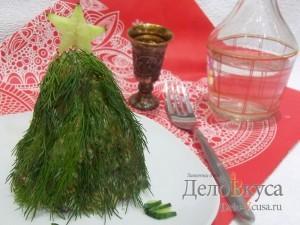 Салат Елочка на Новый год