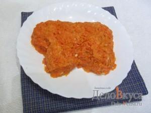 Салат Овечка на Новый год: Слой из вареной морковки