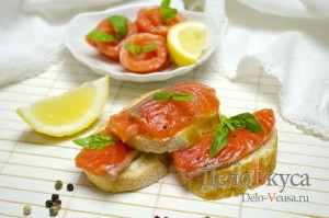 Засолка красной рыбы: Готовим бутерброды