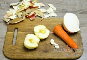 Салат из сельдерея, яблок и моркови: Яблоки очистить