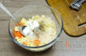 Салат из сельдерея, яблок и моркови: Соединить ингредиенты
