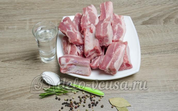 Свиные ребра в мультиварке: Ингредиенты
