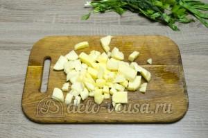 Уха из головы семги: Картошку порезать кубиками